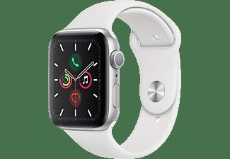APPLE Watch Series 5 44mm zilver aluminium / witte sportband