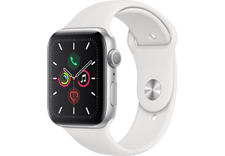 APPLE Watch Series 5 44mm zilver aluminium / witte sportband