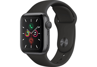 APPLE Watch Series 5 40mm spacegrijs aluminium / zwarte sportband