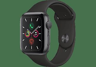 APPLE Watch Series 5 44mm spacegrijs aluminium / zwarte sportband