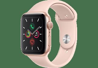 APPLE Watch Series 5 44mm goud aluminium / roze sportband