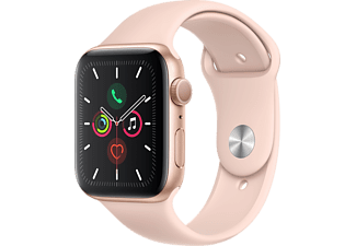 APPLE Watch Series 5 44mm goud aluminium / roze sportband