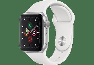APPLE Watch Series 5 40mm zilver aluminium / witte sportband
