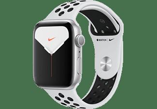 APPLE Watch Series 5 Nike+ 44mm zilver aluminium / platinum/zwarte sportband