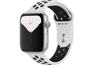 APPLE Watch Series 5 Nike+ 44mm zilver aluminium / platinum/zwarte sportband