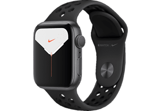 APPLE Watch Nike Series 5 GPS 40mm Aluminiumgehäuse Space Grau mit Anthrazit/Schwarz Sportarmband
