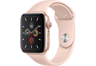 APPLE Watch Series 5 GPS 44mm Aluminiumgehäuse Gold mit Sportarmband Sandrosa
