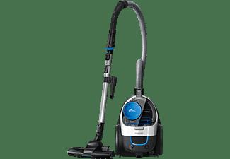PHILIPS FC9332/09 PowerPro Compact beutellos Staubsauger, maximale Leistung: 900 Watt, Schwarz/Blau/Weiß)