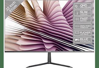 """Monitor - PEAQ PMO Slim S320, 31.5"""" WQHD IPS, 5 ms, Ultra delgado, Plateado"""