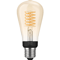 PHILIPS Hue White Filament Edison E27 LED Kolben Bluetooth LED Lampe, Transparent