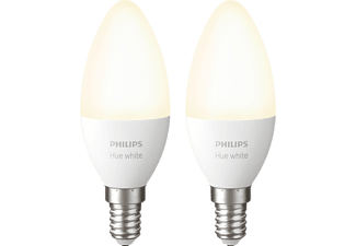 PHILIPS Hue White E14 Doppelpack Bluetooth LED Lampen Warmweiß