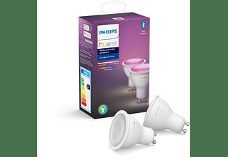 PHILIPS Hue White & Col. Amb. GU10 Doppelpack Bluetooth LED Lampen Mehrfarbig