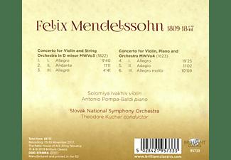 Solomiya Ivakhiv, Slovak National Symphony Orchestra, Antonio Pompa-baldi - Mendelssohn:Concertos  - (CD)