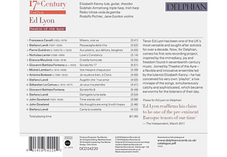 Ed Lyon, Theatre Of The Ayre - 17th Century Playlist  - (CD)