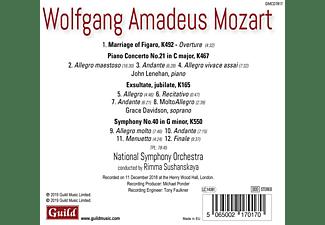 Lenehan/Davidson/Sushanskaya/National Symphony Orc - Figaro Ouvertüre/Klavierkonzert 21/+  - (CD)
