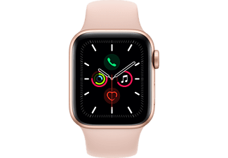 APPLE Watch Series 5 44mm Gold με Ροζ Sport Band
