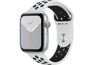 APPLE Watch Series 5 Nike 44mm Silver με Λευκό Nike Sport Band