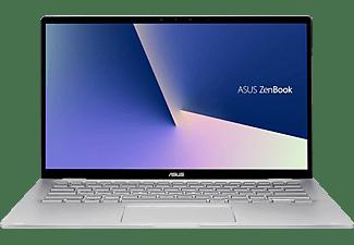ASUS ZenBook Flip 14 (UM462DA-AI071T), Notebook mit 14 Zoll Display, R5 Prozessor, 8 GB RAM, 512 GB SSD, AMD Radeon™ Vega 8 Grafik, Light Grey