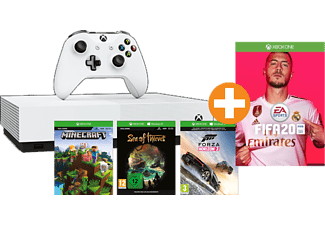 MICROSOFT Xbox One S 1TB All Digital Edition (Konsole ohne optisches Laufwerk) + FIFA 20
