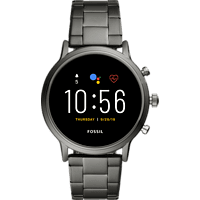 FOSSIL  The Carlyle HR - 5. Generation 44 mm Smartwatch Edelstahl, Edelstahl, 200 mm, Grau