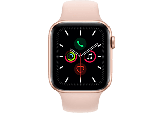 APPLE Watch Series 5 (GPS) 44 mm - Smartwatch (140 mm - 220 mm, Plastica, Oro/Sabbia rosa)