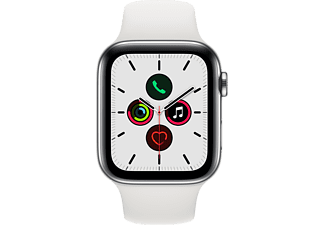 APPLE Watch Series 5 (GPS + Cellular) 44 mm - Smartwatch (140 mm - 220 mm, Plastica, Acciaio inossidabile argento/Bianco)