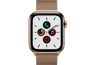 APPLE Watch Series 5 (GPS + Cellular) 44 mm - Smartwatch (140 mm - 220 mm, Acciaio inossidabile (Milanese), Oro)