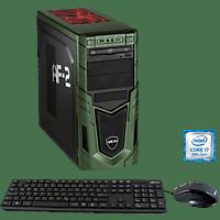 HYRICAN MILITARY GAMING 6437, Gaming PC mit Core™ i7 Prozessor, 16 GB RAM, 480 GB SSD, 1 TB HDD, Geforce RTX 2060, 6 GB
