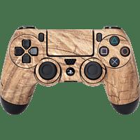 SOFTWARE PYRAMIDE Skins - Sticker für PS4 Controller, Sticker, Wood