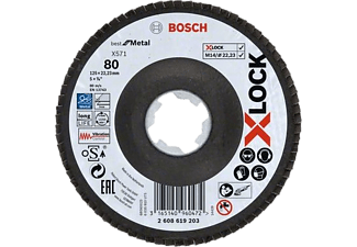 BOSCH X-LOCK X571 Legyezőtárcsa, Best for Metal, G80, ø 125 mm, 1 db (2608619203)