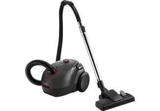 GRUNDIG VCC 3850 A Staubsauger, maximale Leistung: 800 Watt, Schwarz/Rot)