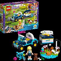 LEGO Stephanies Cabrio mit Anhänger Bausatz, Mehrfarbig