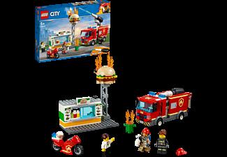 LEGO 60214 Feuerwehreinsatz im Burger-Restaurant Bausatz, Mehrfarbig