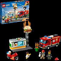 LEGO Feuerwehreinsatz im Burger-Restaurant Bausatz