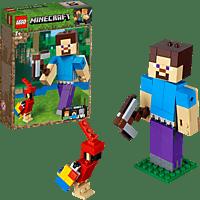 LEGO Minecraft™-BigFig Steve mit Papagei  Bausatz, Mehrfarbig