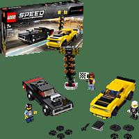 LEGO 2018 Dodge Challenger SRT Demon und 1970 Dodge Charger R/T Bausatz, Mehrfarbig