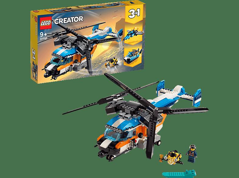 LEGO Doppelroter-Hubschrauber Bausatz, Mehrfarbig