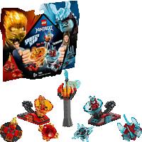 LEGO Spinjitzu Slam – Kai vs. Eis-Samurai Bausatz, Mehrfarbig