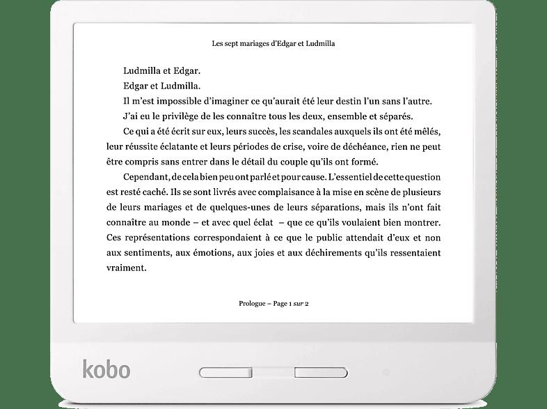 KOBO E-reader Libra H2O Wit (N873-KU-WH-K-EP)