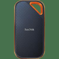 SANDISK Extreme PRO® Portable, 1 TB SSD, 2,5 Zoll, extern, Grau/Orange