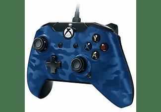 Mando - PDP Camo Blue Deluxe, Con cable, Para Xbox One y PC, Azul