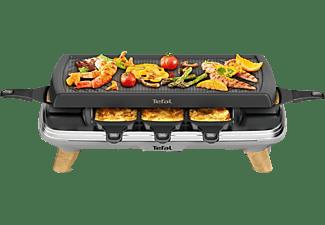 TEFAL Raclette Gourmet Schwarz/Holz RE610D