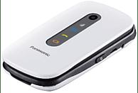 "Móvil - Panasonic KX-TU456, Pantala 2.4"", Botón SOS, Resistente Golpes, Compatible Audifonos, Blanco"
