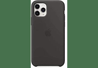 Apple Silicone Case, Funda para iPhone 11 Pro, Silicona, Negro