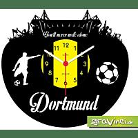 GRAVINCI Dortmund Never Walk Alone-Sport Fußball Deutsch Vinyl Schallplattenuhr, Mehrfarbig