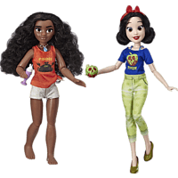 DISNEY PRINCESS DPR WIR 2 MOANA AND SNOW WHITE Puppen, Mehrfarbig