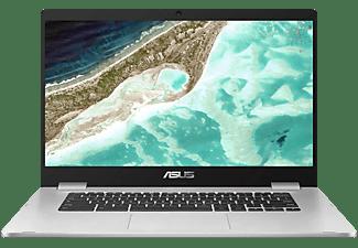 ASUS Chromebook C523 (C523NA-EJ0123), Chromebook mit 15.6 Zoll Display, Celeron® Prozessor, 4 GB RAM, 64 GB Interner Speicher, Intel HD Grafik 500, Silver