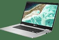 ASUS C523NA (C523NA-EJ0123), Chromebook mit 15.6 Zoll Display, Celeron® Prozessor, 4 GB RAM, 64 GB Interner Speicher, Intel HD Grafik 500, Silver