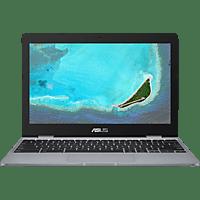 ASUS ASUS Chromebook C223NA (C223NA-GJ0049), Chromebook mit 11.6 Zoll Display, Dual-Core Celeron® Prozessor, 4 GB RAM, Intel HD Graphics 500, Grey