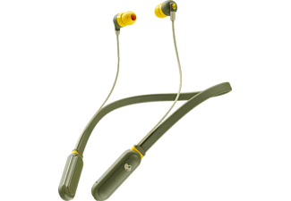 SKULLCANDY S2IQW-M687 INKD+ BT, In-ear Kopfhörer Bluetooth Olive/Gelb